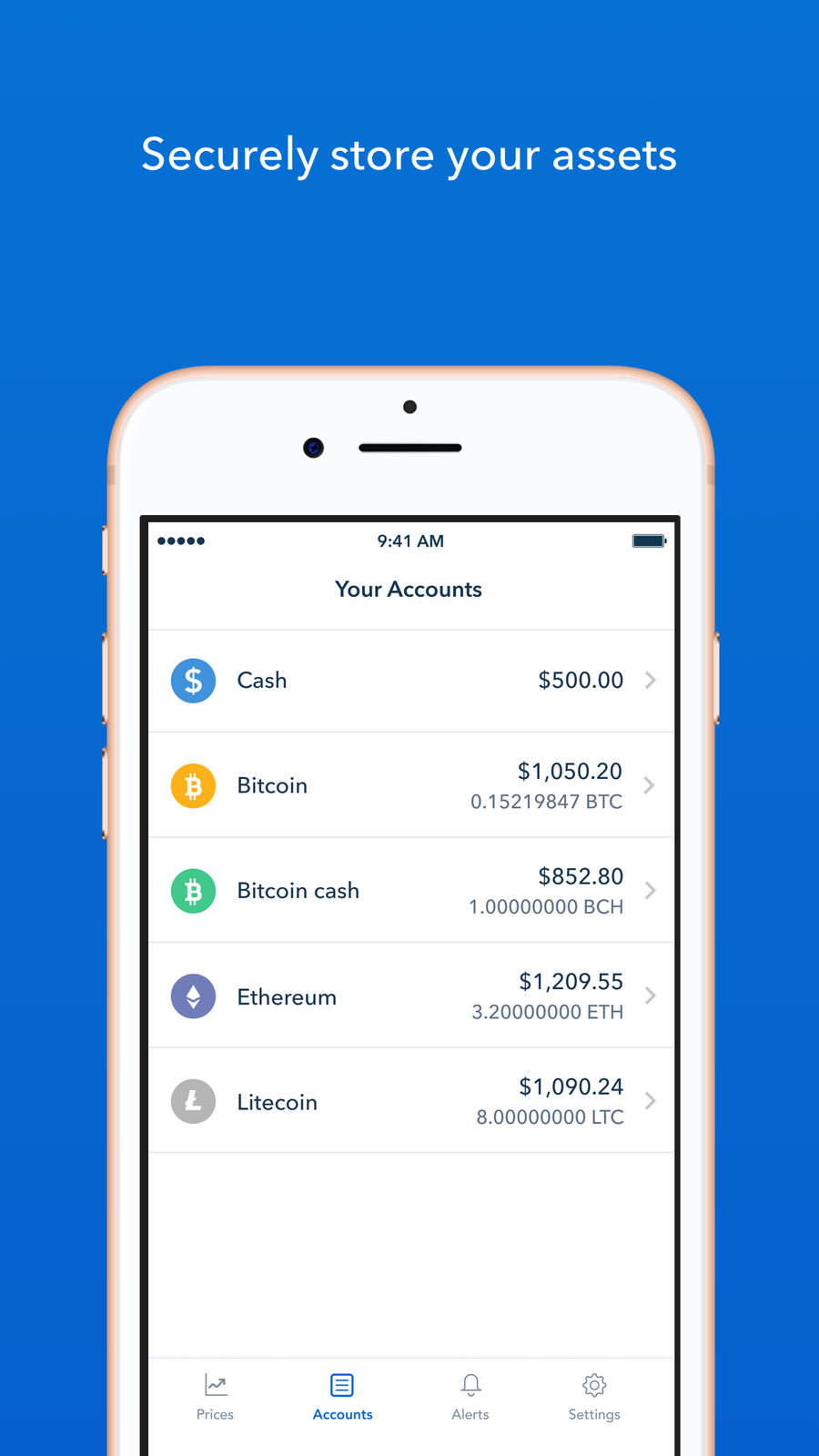 Example of Design for Finance App , App Store Screenshot by Coinbase