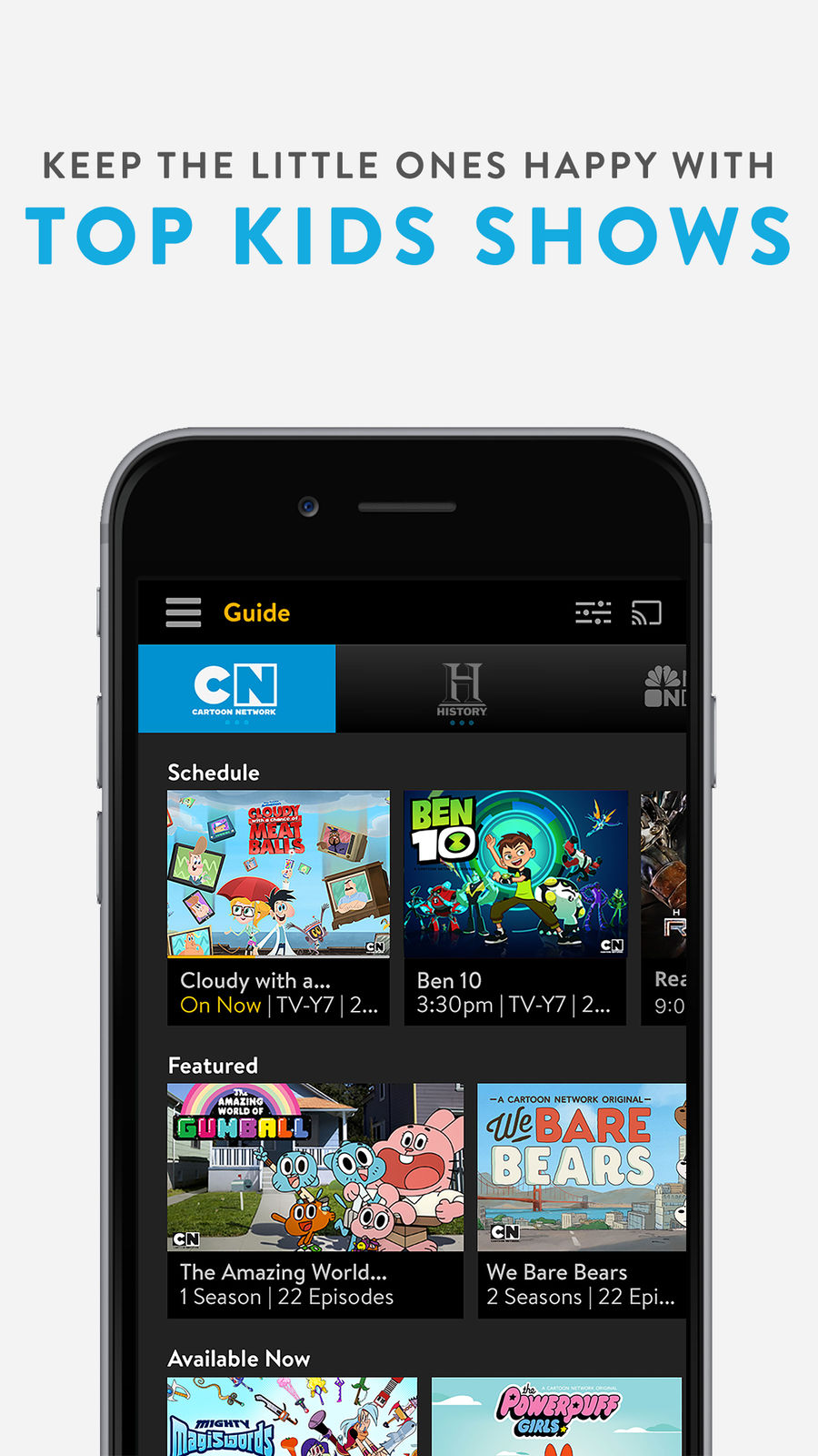 Example of Design for Entertainment App , App Store Screenshot by Sling TV