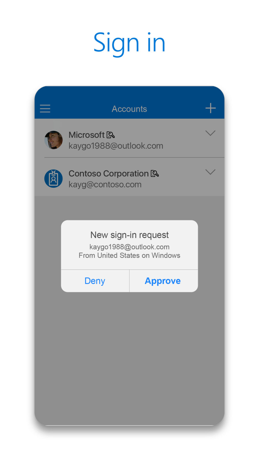 Example of Design for Productivity App , App Store Screenshot by Microsoft Authenticator