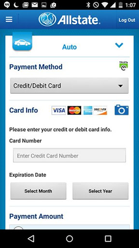 Example of Design for Finance App , App Store Screenshot by Allstate℠ Mobile