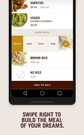 Example of Design for Food & Drink App , App Store Screenshot by Chipotle