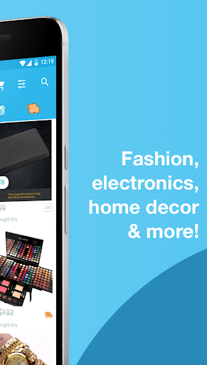 Example of Design for Shopping App , App Store Screenshot by Wish