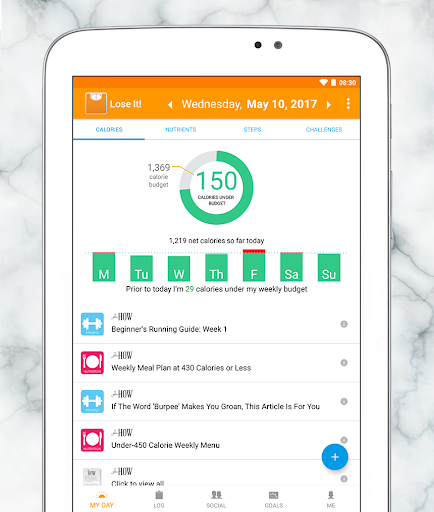 Example of Design for Health & Fitness App , App Store Screenshot by Lose It!