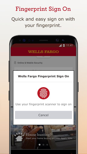 Example of Design for Finance App , App Store Screenshot by Wells Fargo Mobile