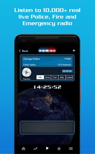 Example of Design for News App , App Store Screenshot by Police Scanner Radio