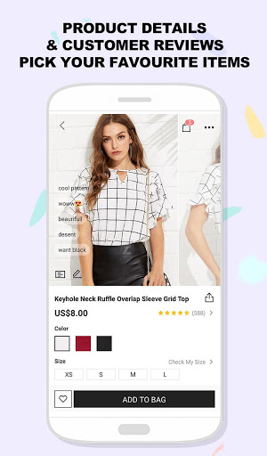Example of Design for Shopping App , App Store Screenshot by SheIn