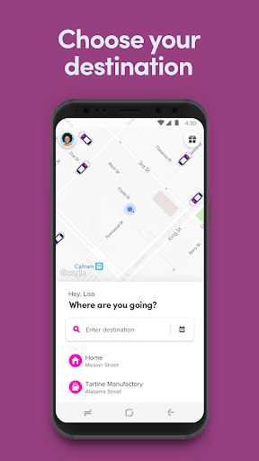 Example of Design for Navigation App , App Store Screenshot by Lyft
