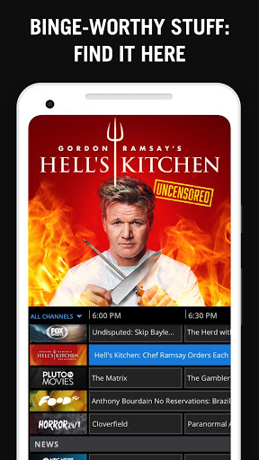 Example of Design for Entertainment App , App Store Screenshot by Pluto TV