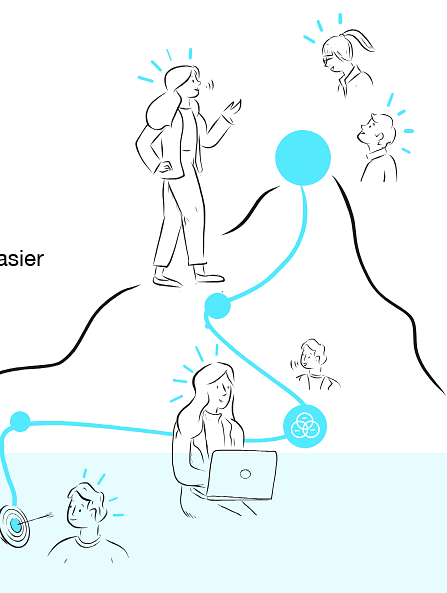 Example of Design for Person, target, path, laptop, computer, Web Illustrations by stick-ai | Illustration Design