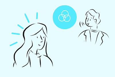 Example of Design for Person, venn diagram, Web Illustrations by stick-ai | Illustration Design