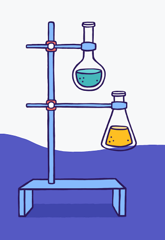 Example of Design for flask, chemical, science, Web Illustrations by flocabulary-com | Illustration Design