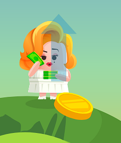 Example of Design for Person, money, coin, arrow, Web Illustrations by applovin-com | Illustration Design