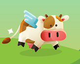 Example of Design for cow, wings, Web Illustrations by applovin-com | Illustration Design