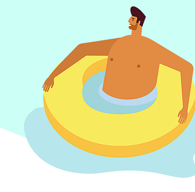 Example of Design for Person, float, water, Web Illustrations by startstackin-com   Illustration Design
