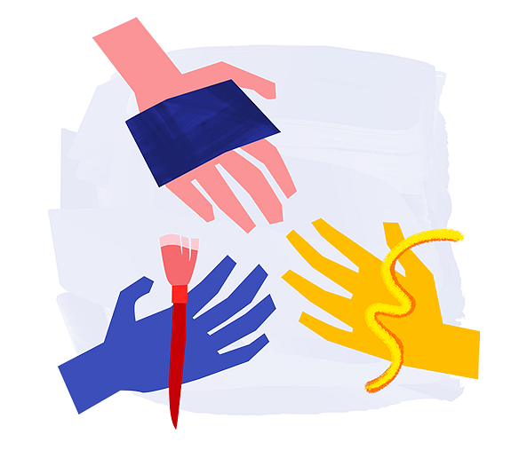 Example of Design for hand, brush, abstract, Web Illustrations by new-edmodo-com | Illustration Design