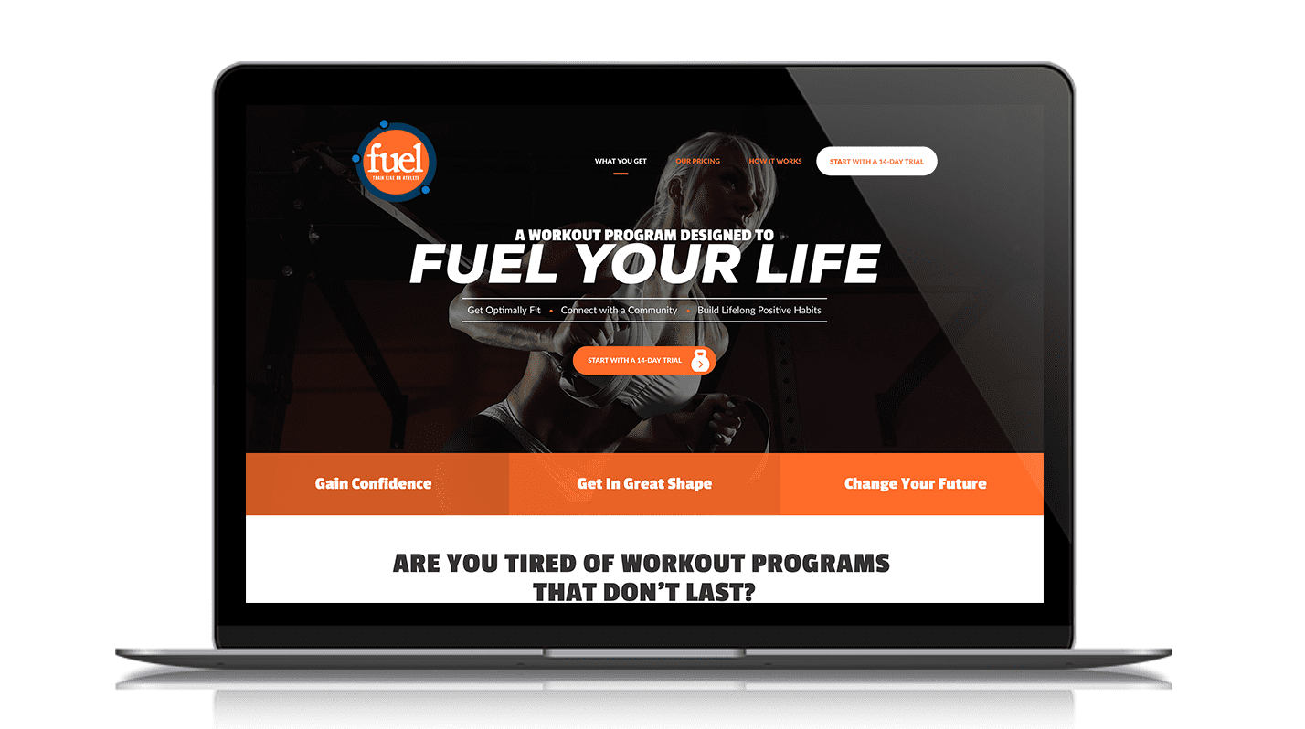 Fuel Hickory's website on a laptop