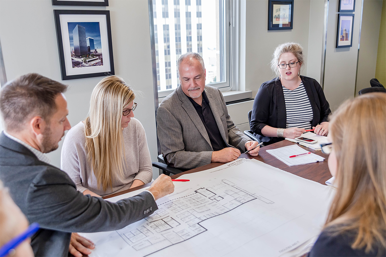 Architecture Team working through Construction and Project Development