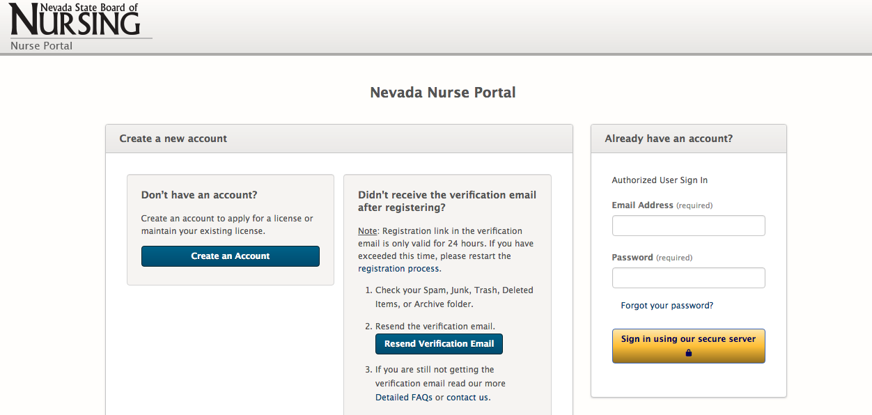 Nevada Nurse Portal-login-registration
