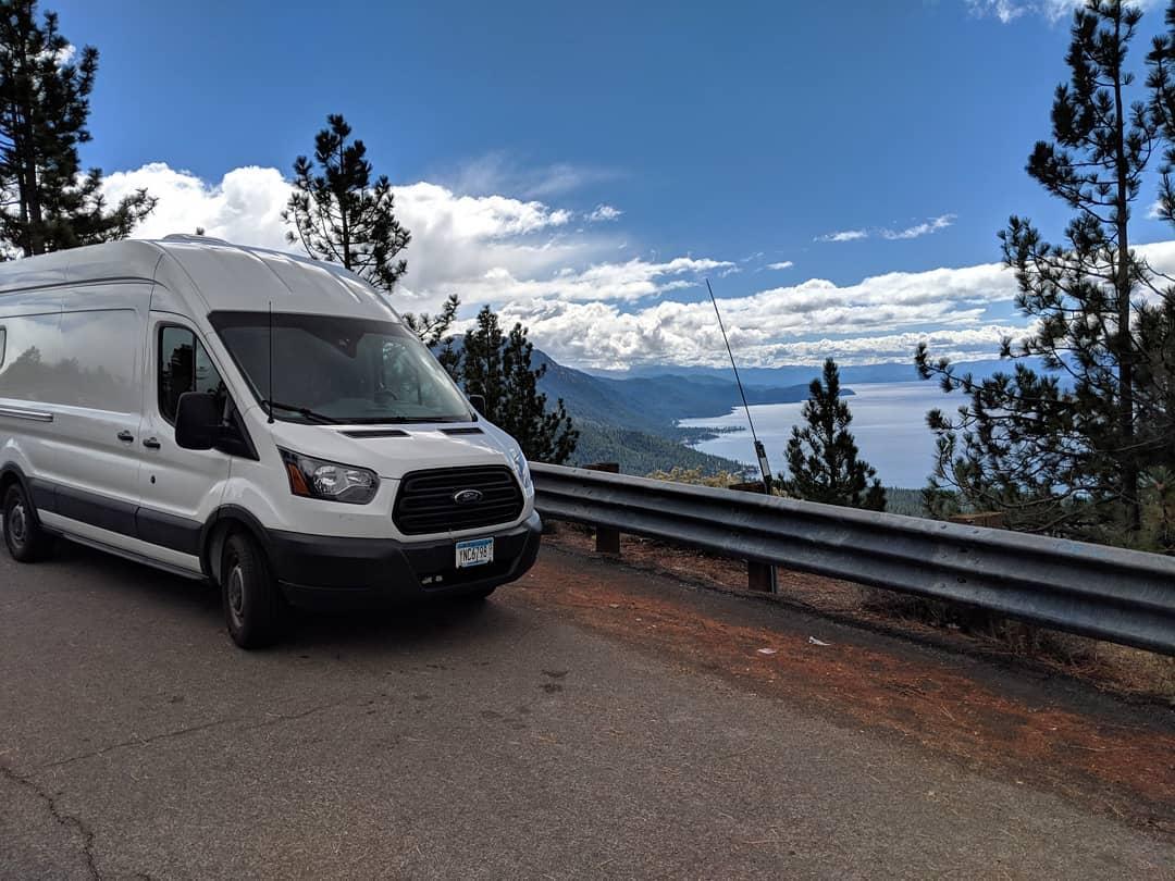 Tall Man Van-nate hemann-travel nurse van life-California-Eldorado National Forest