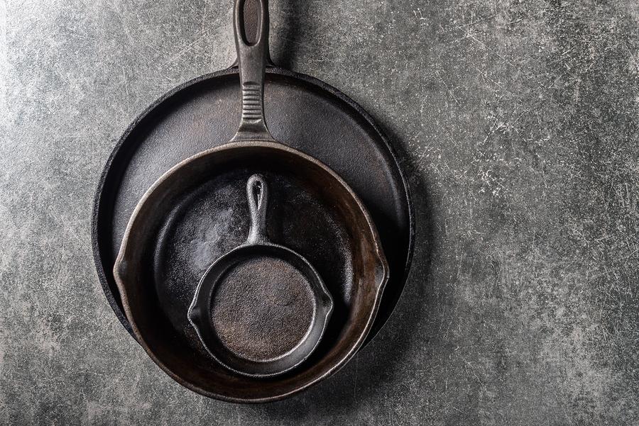 cast iron skillet-travel nursing kitchen