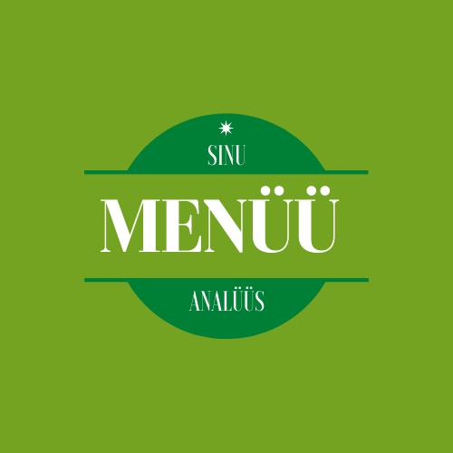 Menüü analüüs zoom's (tasuta)