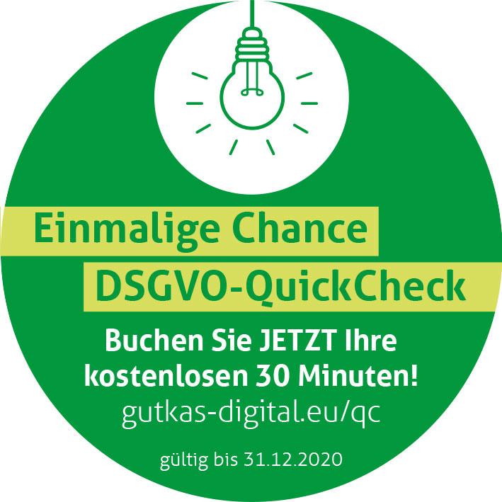30 Minuten DSGVO QuickCheck - Online über Zoom oder Skype