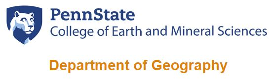 Penn State Department of Geography Undergraduate Advising