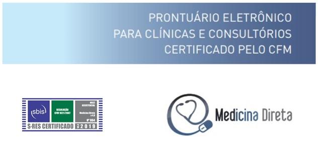 Selecione abaixo o melhor horário para uma apresentação do software de prontuário eletrônico Medicina Direta com Certificação SBIS / CFM.