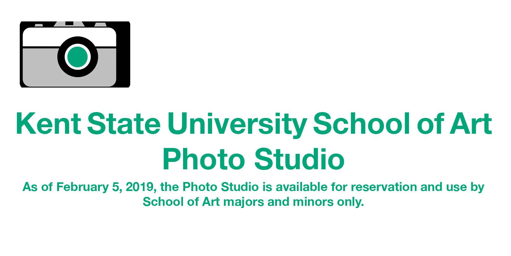 Kent State School of Art Photo Studio